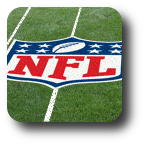 NFL logo on grass field