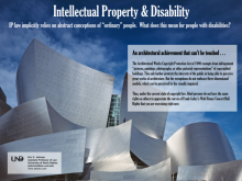 Intellectual Property and Disability poster